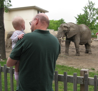grandpa and kivrin and elephant