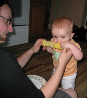 trying corn on the cob