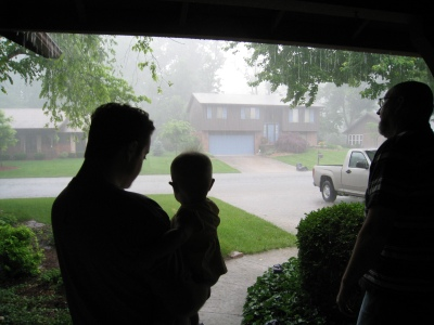 watching the downpour