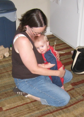 kivrin snuggling mommy