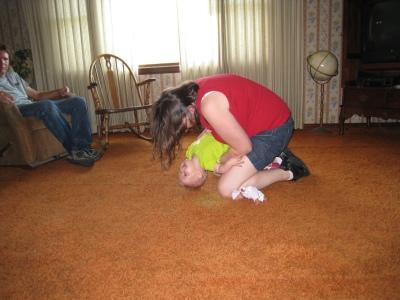 kivrin and mama wrestling