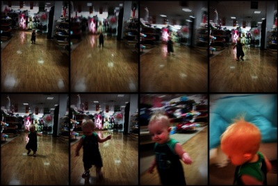 kivrin running around like crazy at j c penneys