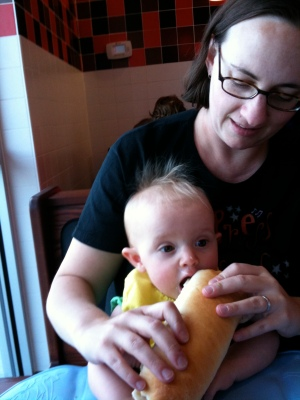 kivrin's first bite of jimmy johns