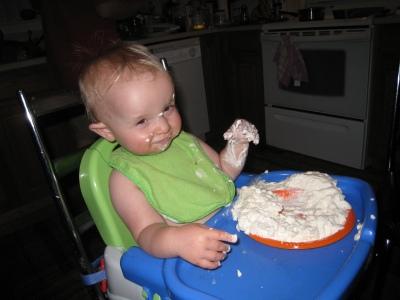 whipped cream cake a success