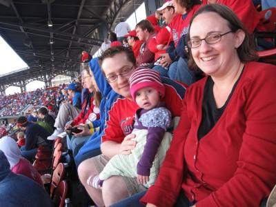 family at ballpark