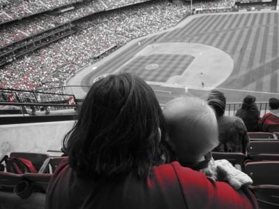 kivrin and mama at stadium