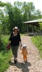kivrin and mama walking at the naturecenter2