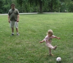 kivrin and dada kicking the ball2